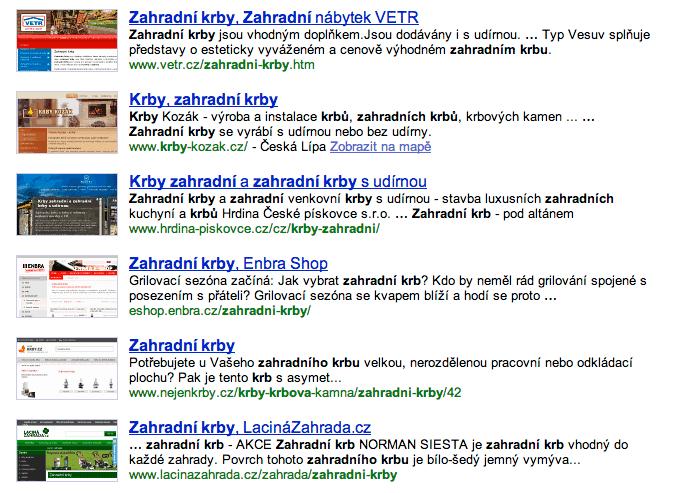 Výsledek vyhledávání Seznam.cz zahradní krby
