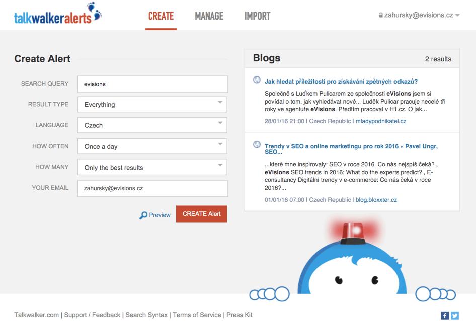 budování dobrého online profilu