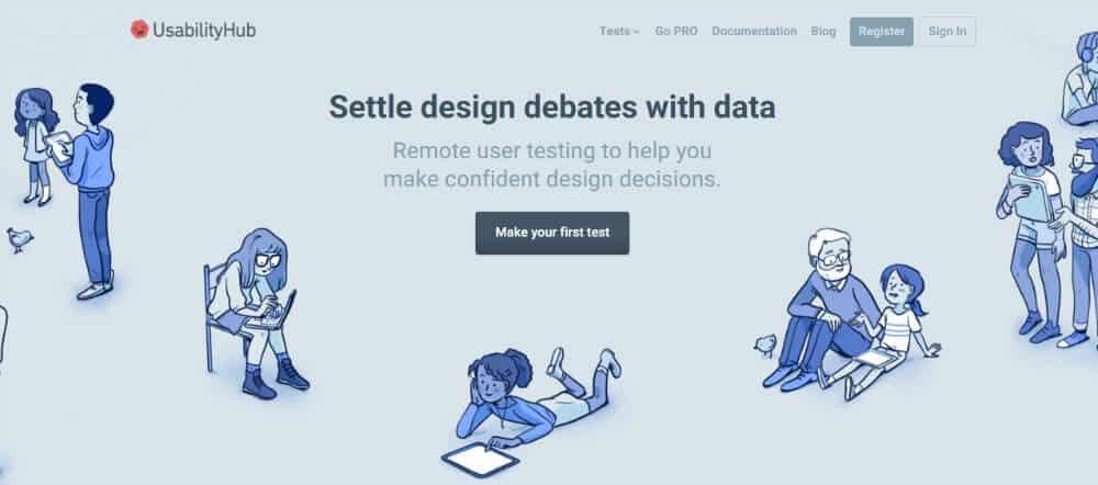 Uživatelské testování pomocí UsabilityHub