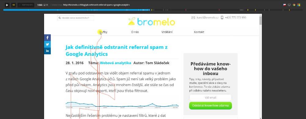 Online uživatelské testování srozumitelnosti sdělení